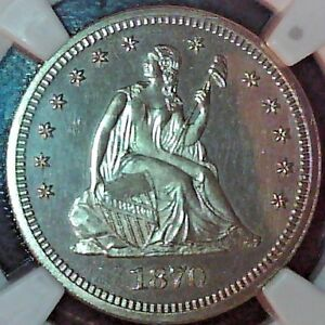 1870 Quarter Dollar NGC Proof-64