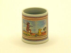 Christopher Robin & Pooh Wastebasket for Nursery - Artisan Dollhouse Miniature