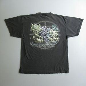 Vintage 90s 1997 Dragon Ball Z T Shirt Anime Black DBZ Distressed XL