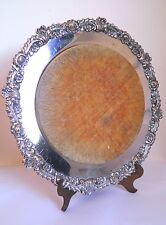 Antique Victorian Edwardian Silver Plated Bread Board or Cheese Board Sheffield