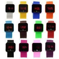 NEW LED Touch Digital Screen Wrist Watch For Men Women Unisex Boys Girls Kids