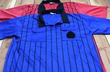 Lot of 2 Epic Soccer Gear Referees Jersey Shirts Red & Blue Stripe sz AXL