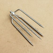 5 Prong Harpoon Spear Gun Gig Fish Frog Salmon Eel Barbed Stainless M8 Metric