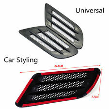 2x Grill 3D Car Vent Air Flow Fender Sticker Car Side Door Decal Mesh Cover Hood