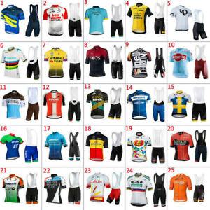 2021 Mens Cycling Jerseys Bib Shorts sets Cycling Clothing Bicycle Short Sleeve