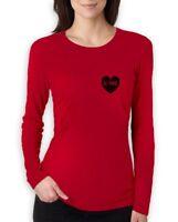 Be Mine - Valentine's Day Gift - Heart Logo Pocket Women Long Sleeve T-Shirt