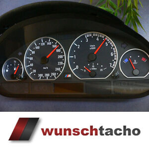 Tachoscheibe für Tacho BMW E46 Diesel M3 Optik ohne Tachojustierung