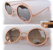 New GUESS GF0336 Rose Gold/Mirror Faux Pearl Womens Sunglasses $75.00