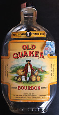 1950's OLD QUAKER Bourbon Bottle w/ Alabama Great Seal Tax Stamp