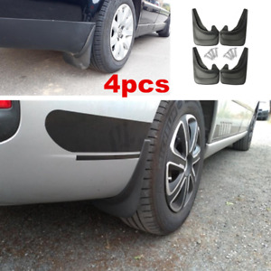 For Car Truck Mud Flaps Black ABS Mud Guards Splash Flares 4 Piece Front Rear