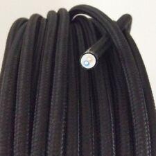 Textilkabel, Stoffkabel, Textilleitung,rund,schwarz 2x0,75mm² H03VV-F