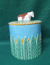 Majolica Cow Cheese Dome Lid