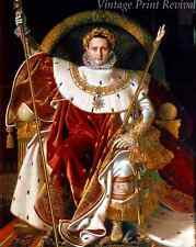 Napoleon on Imperial Throne by Jean Auguste Ingres - Emperor  8x10 Print 1196