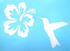Hummingbird Hibiscus Flower Car Truck Window Vinyl Decal Stickers 12 COLORS!