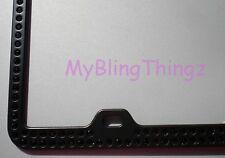 Inset BLACK Crystal Rhinestone on Black License Plate Frame w/Swarovski Elements
