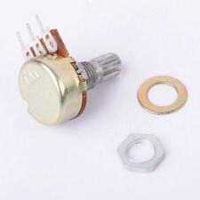 New 10pcs B100K 100K Ohm Knurled Shaft Linear Rotary Taper Potentiometer 15MM LZ
