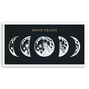 2 x 10cm Moon Phases Vinyl Stickers - Space Astronomy NASA Laptop Sticker #34520