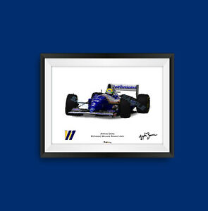 Ayrton Senna Williams FW16 F1 Art Print - Scuderia GP