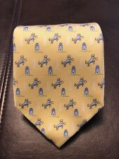 VINEYARD VINES MEN'S BULL CUSTOM YELLOW NECKTIE Chesapeake Energy One Of A Kind!