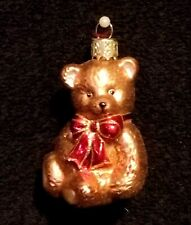 Adorable Figural Mercury Glass Teddy Bear Christmas Ornament