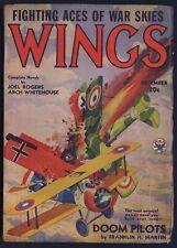 WINGS Pulp Magazine, December 1934, RUDOLPH BELARSKI Cover Art, Fine-