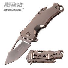 All Chrome MTech Blade Quick Spring Assisted Small Tactical Pocket Knife