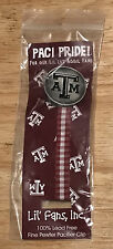 TEXAS A&M AGGIES PACI PRIDE PACIFIER CLIP for BABY/BABIES Lil Fans AGGIE