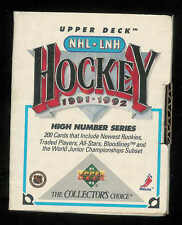 1991-1992 UPPER DECK HOCKEY HIGH NUMBER COMPLETE OPENED FACTORY SET