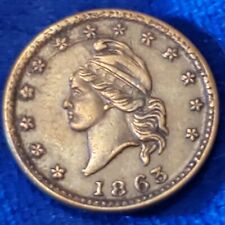 1863 Civil War Token Army & Navy - High Grade Circulated Example!