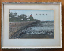 """ANTIQUE CHINESE SILK EMBROIDERY TITLED """"TOWARDS HAIDONG PREFECTURE QINGHAI"""""""
