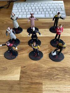 "Star Trek Generations 3.5"" Figurine Vinyl Applause  9 Figure Bundle 1994"