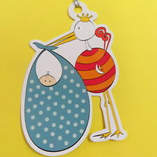 STORK BABY GIFT TAGS - 2 Gift Tags paper Eskimo brand