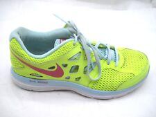 Nike 8M Dual Fusion Lite neon yellow blue womens ladies athletic running shoes