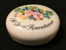 Faience Collectible Valentine Remembrance Box Avon 1982