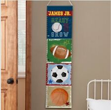 Ready Set Grow Sports Growth Chart- Personalized With James Jr.