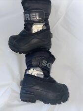Sorel kids winter boots NV1805-010 size 5 snow black kids child toddler winter