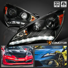 For 2010-2012 Genesis 2Dr Coupe LED DRL Projector Headlights [Black] Left+Right