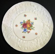 "EMBOSSED WITH FLOWERS ERPHILA 11"" CAKE PLATE"
