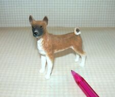 Miniature Handsome Resin Basenji, Standing: Dollhouse Miniatures 1:12 Scale