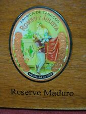 RESERVE MADURO - WELL MADE WOODEN CIGAR BOX WITH SNAP CLOSURES - NICE