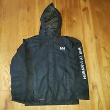 Helly Hansen Tech Black Wind Cheater Rain Coat Jacket Small Adult Spell out