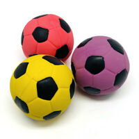 3 Pack 2.7'' Medium Soft Squeaky Dog Toys Soccer Ball Bounce Interactive Play