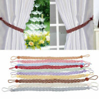 1 Pair Curtain Tiebacks Tie Holdback Backs Tassel Rope Living Room Bedroom Decor