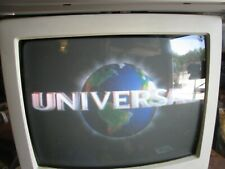 """Sharp 13N-M150B 13"""" Color CRT White TV Retro Gaming Front A/V Inputs w/Remote"""