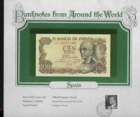 World Banknotes Spain 100 Pesetas 1970 P 152 UNC Prefix 7D