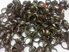 100 PCs Ring ANTIQUE Afghan Kuchi Banjara Ethnic Old Antique Nomad Wholesale