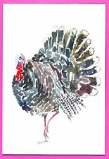 Thanksgiving - Turkey Magnet for Refrigerator or anywhere - 4 x 5 1/2 inch (P8)
