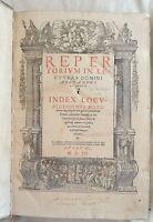 ALESSANDO TARTAGNI DA IMOLA REPERTORIUM IN LECTURAS COMMENTARIORUM DIGESTO 1552
