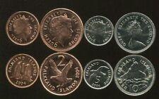 FALKLAND SET 4 COINS 1 2 5 10 PENCE 1998-2004 UNC