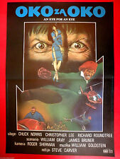 EYE FOR AN EYE 81' CHUCK NORRIS  CHRISTOPHER LEE MARTIAL ARTS EXYU MOVIE POSTER